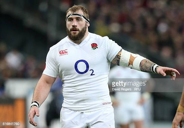 Joe Marler of England looks on during the RBS Six Nations match between France and England at Stade de France on March 19 2016 in Paris France