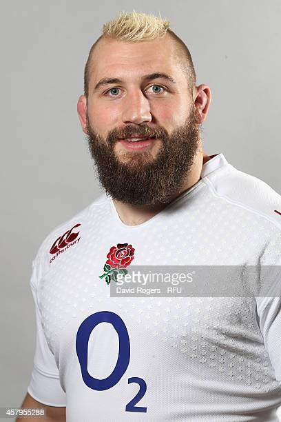 Joe Marler of England poses for a portrait at the Pennyhill Park Hotel on October 27 2014 in Bagshot England