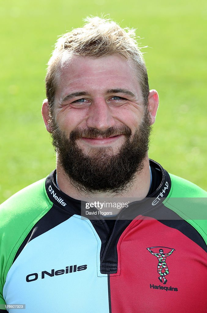 Joe Marler of Harlequins poses for a portrait at the Surrey Sports Park on August 19, 2013 in Guildford, England.