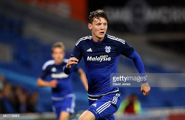Joe Mason of Cardiff City during the pre season friendly match between Cardiff City and Watford at Cardiff City Stadium on July 28 2015 in Cardiff...