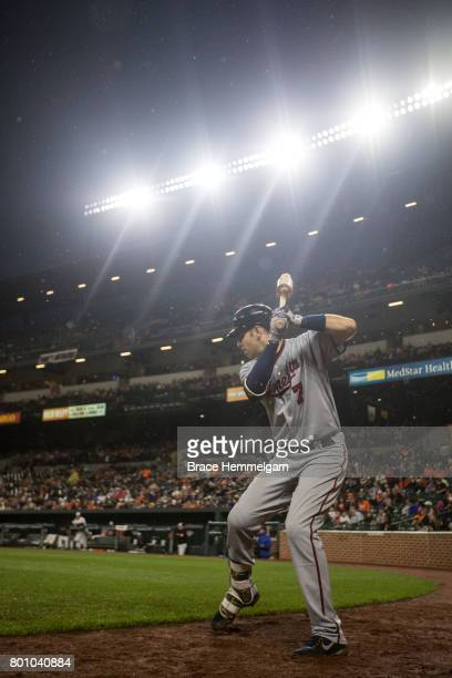 Joe Mauer of the Minnesota Twins looks on against the Baltimore Orioles on May 23 2017 at Oriole Park at Camden Yards in Baltimore Maryland The Twins...