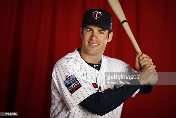 Joe Mauer of the Minnesota Twins poses during photo day at Hammond Stadium on March 1 2010 in Ft Myers Florida