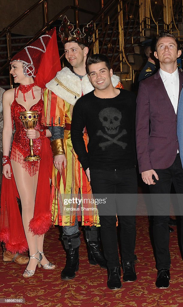 Joe McElderry attends a photocall ahead of 'West End Heroes' a gala concert to raise money for Help For Heroes at Dominion Theatre on April 19, 2013 in London, England.