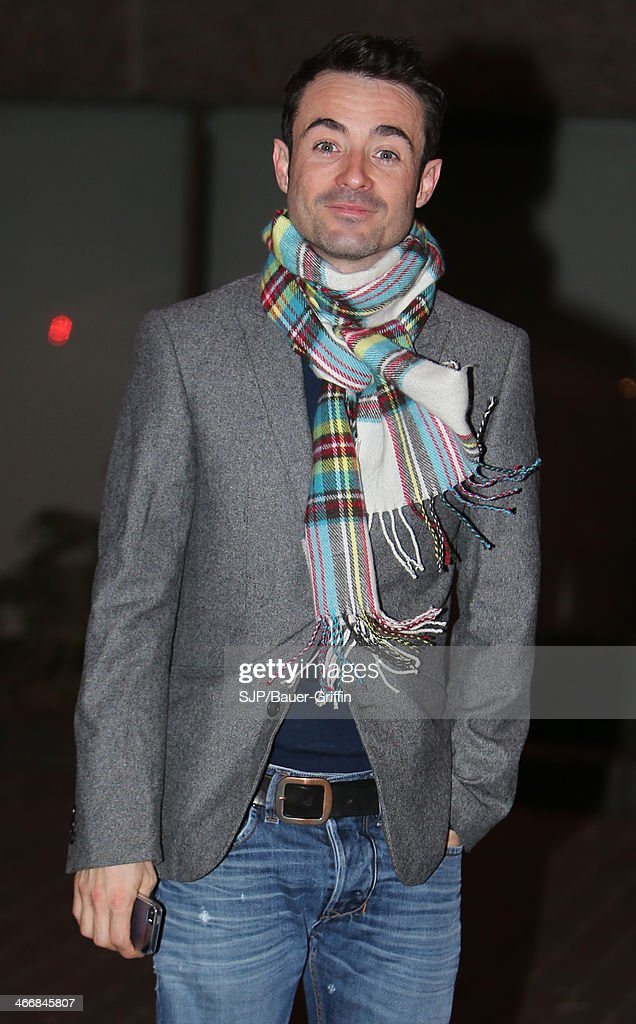 Joe McFadden is seen outside the London Studios on February 04, 2014 in London, United Kingdom.