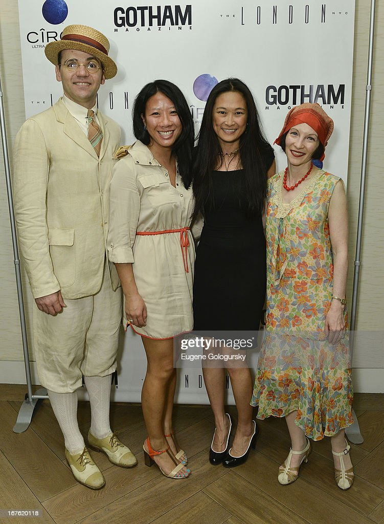 Joe McGlynn, Jamie Dang, Bridget Tran and Heidi Rosenau attend the Gotham Magazine Celebration with Cover Star Isla Fisher with Ciroc Vodka on April 26, 2013 in New York City.