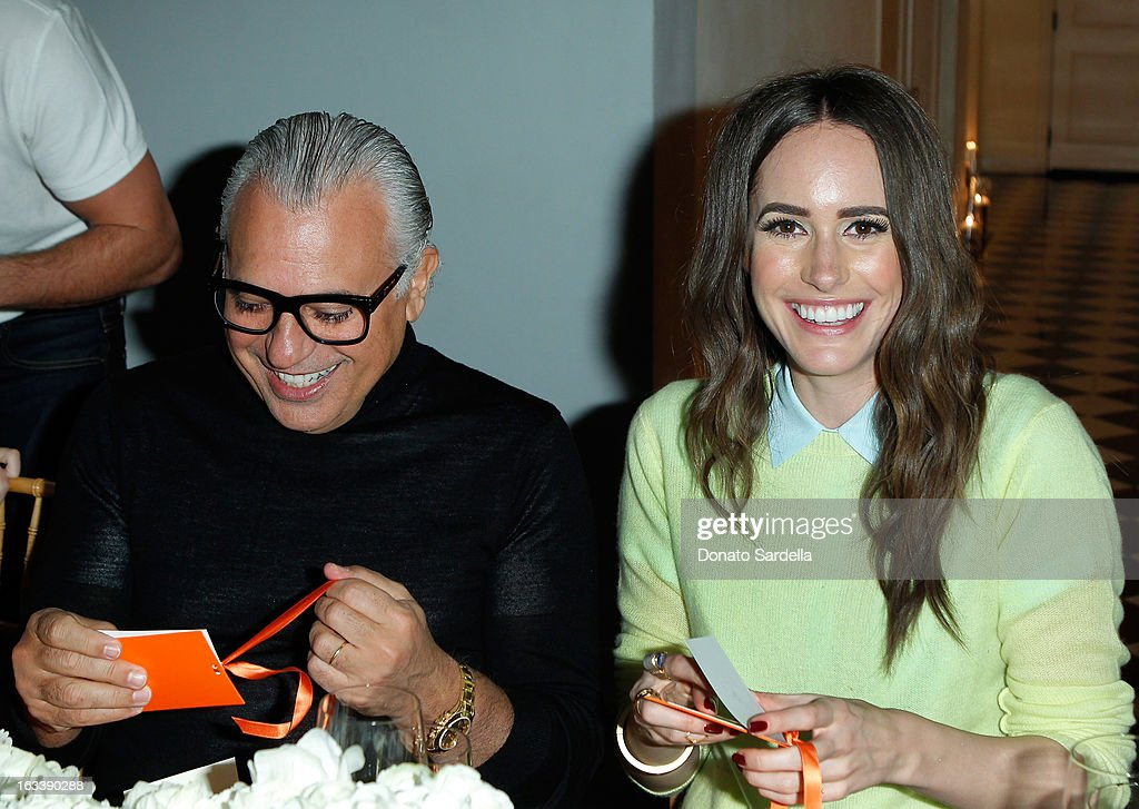 Joe Mimran and <a gi-track='captionPersonalityLinkClicked' href=/galleries/search?phrase=Louise+Roe&family=editorial&specificpeople=4300958 ng-click='$event.stopPropagation()'>Louise Roe</a> attend Joe Fresh private dinner hosted by Joe Mimran and Kate Mara at The Chateau Marmont on March 8, 2013 in Los Angeles, California.