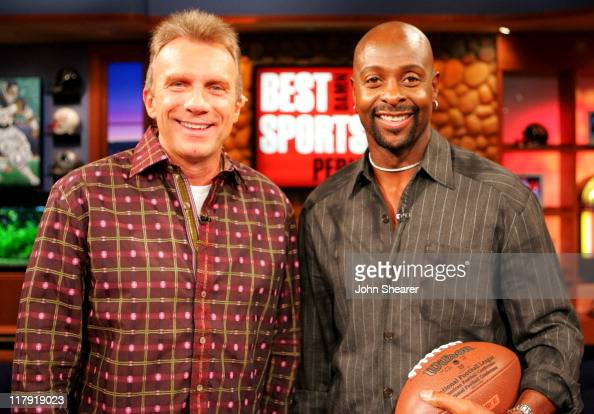 Joe Montana and Jerry Rice during 'Best Damn Sports Show Period' with Joe Montana and Jerry Rice October 11 2005 at Fox Studios in Los Angeles...