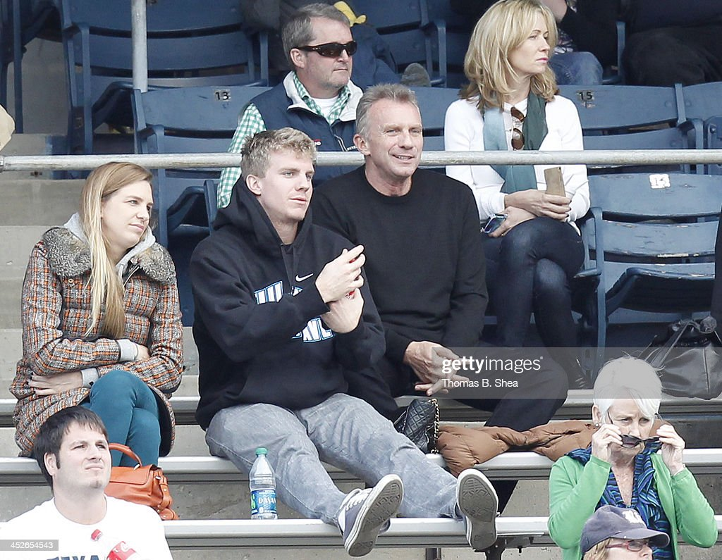 Joe Montana sits in the stands watching Tulane Green Wave play against the Rice Owls on November 30, 2013 at Rice Stadium in Houston, Texas.Rice won 17 to 13.
