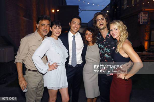 Joe Montegna Paget Brewster Daniel Henney Erica Messer Matthew Gray Gubler AJ Cook at the CBS Summer soirée held on August 1 2017 in Los Angeles CA