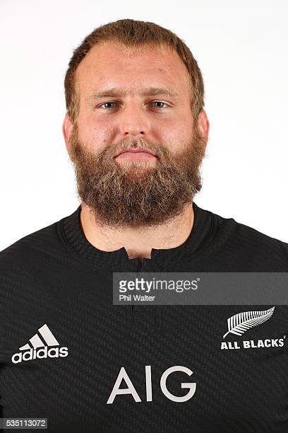 Joe Moody of the All Blacks poses for a portrait during a New Zealand All Black portrait session on May 29 2016 in Auckland New Zealand
