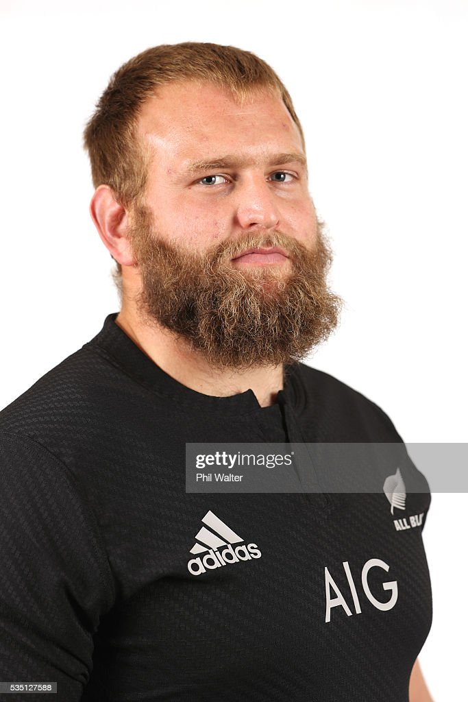 <a gi-track='captionPersonalityLinkClicked' href=/galleries/search?phrase=Joe+Moody+-+Rugby+Union+Player&family=editorial&specificpeople=15162118 ng-click='$event.stopPropagation()'>Joe Moody</a> of the All Blacks poses for a portrait during a New Zealand All Black portrait session on May 29, 2016 in Auckland, New Zealand.
