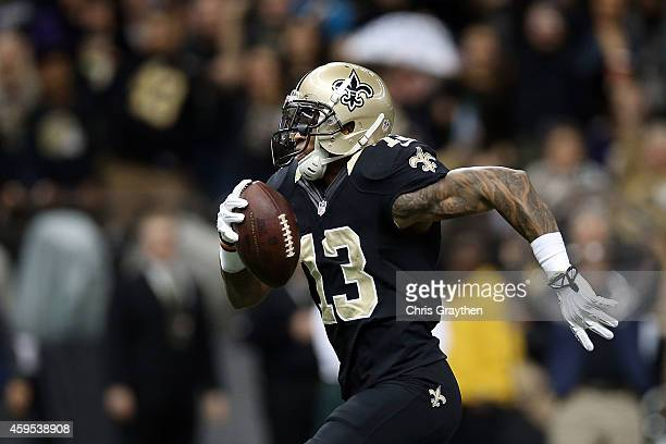 Joe Morgan of the New Orleans Saints runs for yards during the first quarter of a game against the Baltimore Ravens at the MercedesBenz Superdome on...