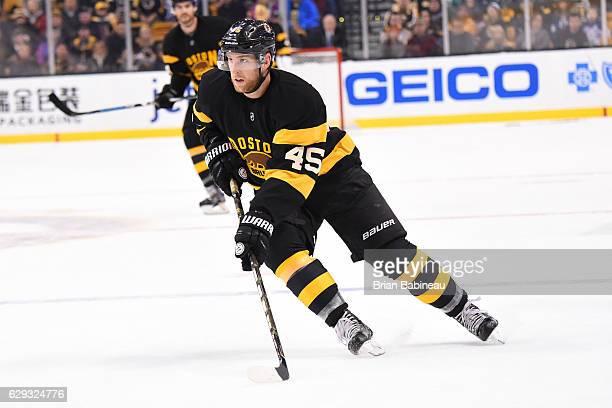 Joe Morrow of the Boston Bruins skates against the Toronto Maple Leafs at the TD Garden on December 10 2016 in Boston Massachusetts