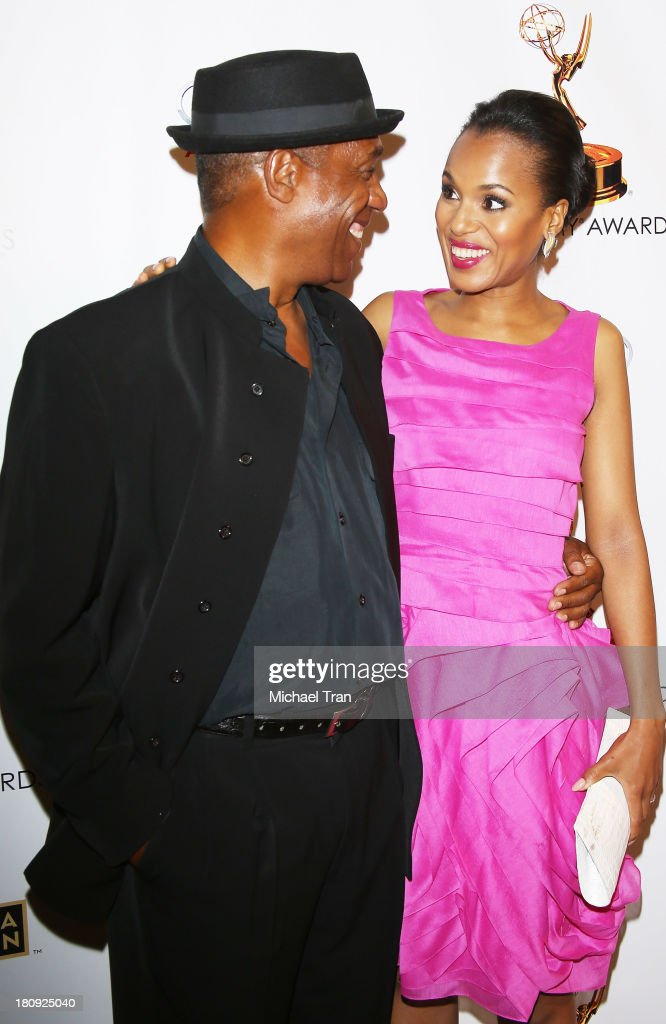 <a gi-track='captionPersonalityLinkClicked' href=/galleries/search?phrase=Joe+Morton&family=editorial&specificpeople=243160 ng-click='$event.stopPropagation()'>Joe Morton</a> (L) and <a gi-track='captionPersonalityLinkClicked' href=/galleries/search?phrase=Kerry+Washington&family=editorial&specificpeople=201534 ng-click='$event.stopPropagation()'>Kerry Washington</a> arrive at The Academy of Television Arts & Sciences and SAG-AFTRA celebrate The 65th Primetime Emmy Award Nominees held at Academy of Television Arts & Sciences on September 17, 2013 in North Hollywood, California.