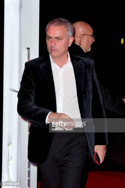 Joe Mourinho attends the United for Unicef Gala Dinner at Old Trafford on November 15 2017 in Manchester England