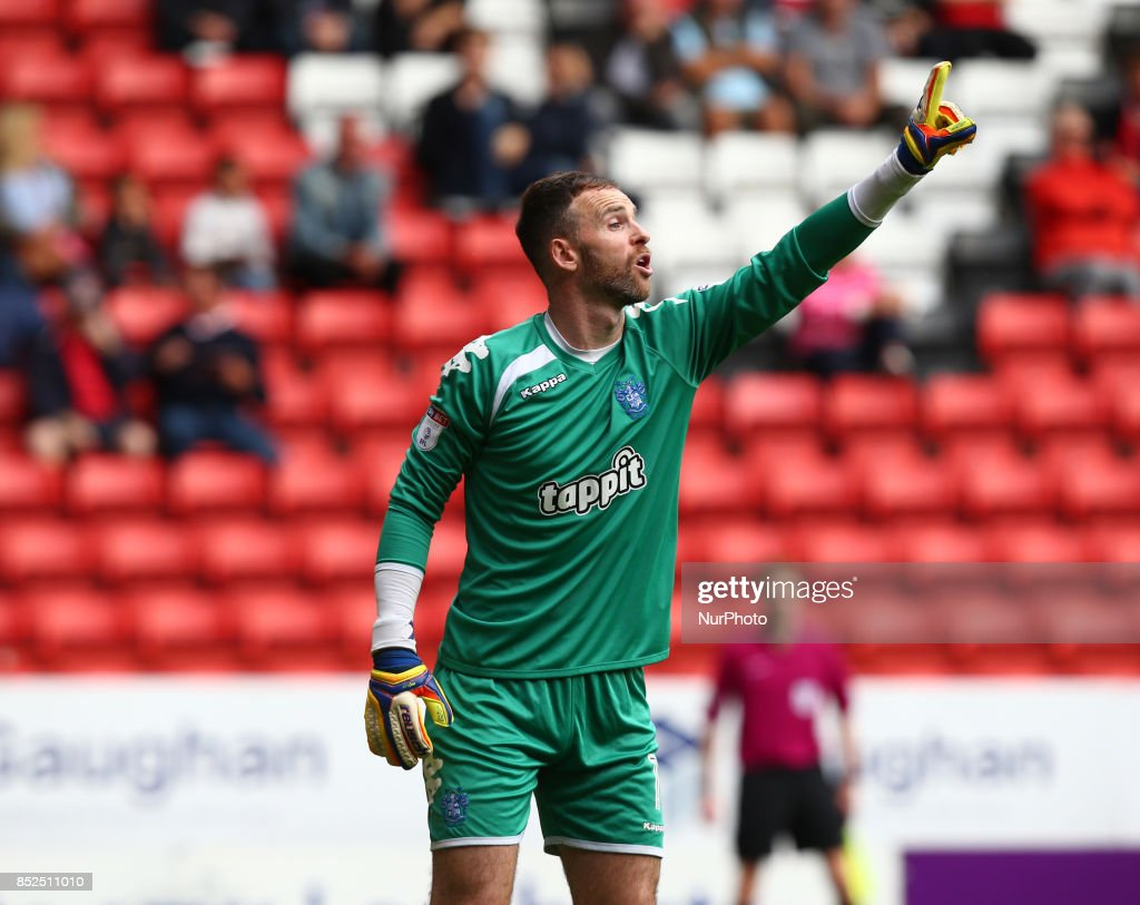 Joe Murphy of Bury during Sky Bet League One match between Charlton Athletic against Bury at The Valley Stadium London on 23 Sept 2017