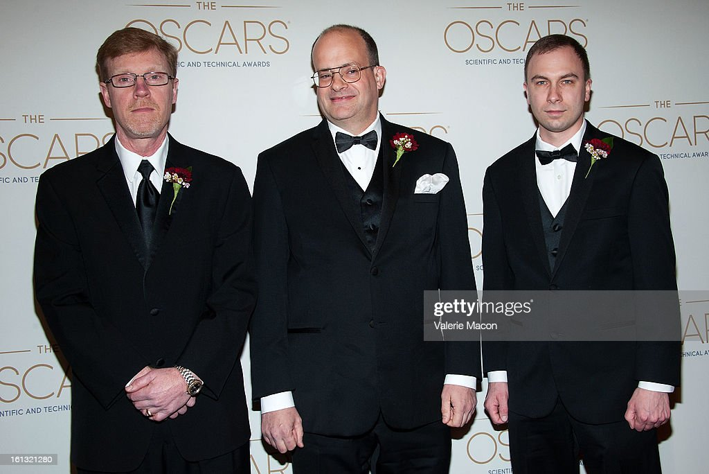 Joe Murtha, William Frederick and Jim Markland arrives at the Academy Of Motion Picture Arts And Sciences' Scientific & Technical Awards at Beverly Hills Hotel on February 9, 2013 in Beverly Hills, California.