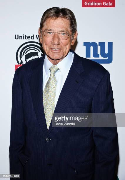 Joe Namath attends the 21st Annual Gridiron gala at The Waldorf=Astoria on May 13 2014 in New York City