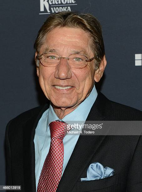 Joe Namath attends the Sports Illustrated MVP Night With Lynn Swann And Jaguar At The Diageo Liquid Cellar on January 30 2014 in New York City