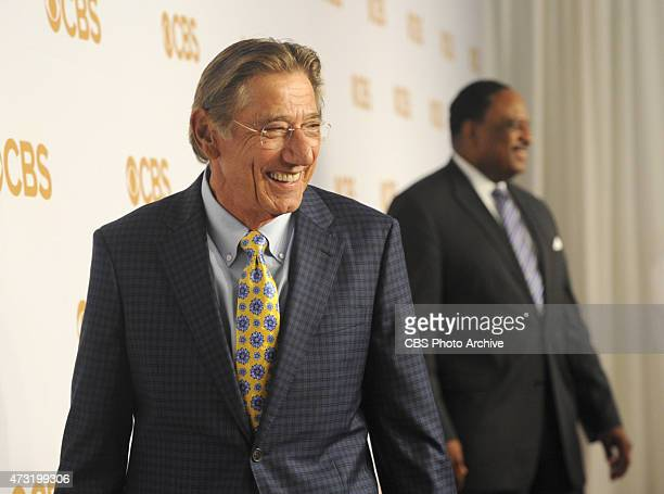 Joe Namath NY Jets Super Bowl III MVP and James Brown host of The NFL Today walk the gold carpet at Lincoln Center after CBS presented its 201516...