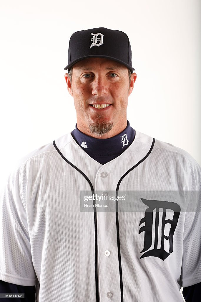 Joe Nathan #36 of the Detroit Tigers poses for a photo during the Tigers' photo day on February 28, 2015 at Joker Marchant Stadium in Lakeland, Florida.