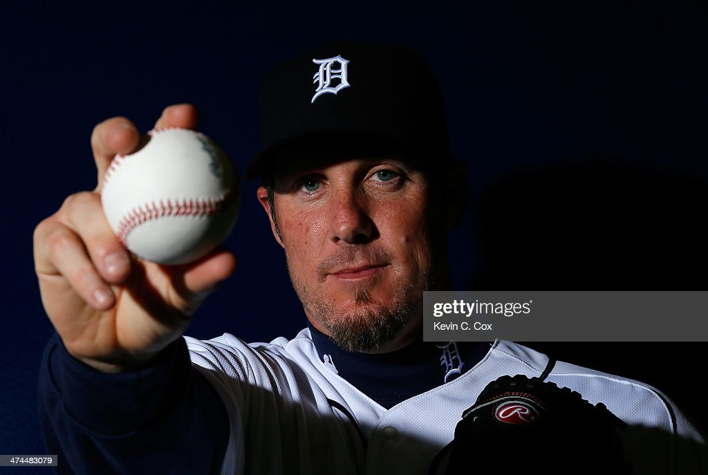 Joe Nathan #36 of the Detroit Tigers poses for a portrait during photo day on February 23, 2014 at Joker Marchant Stadium in Lakeland, Florida.