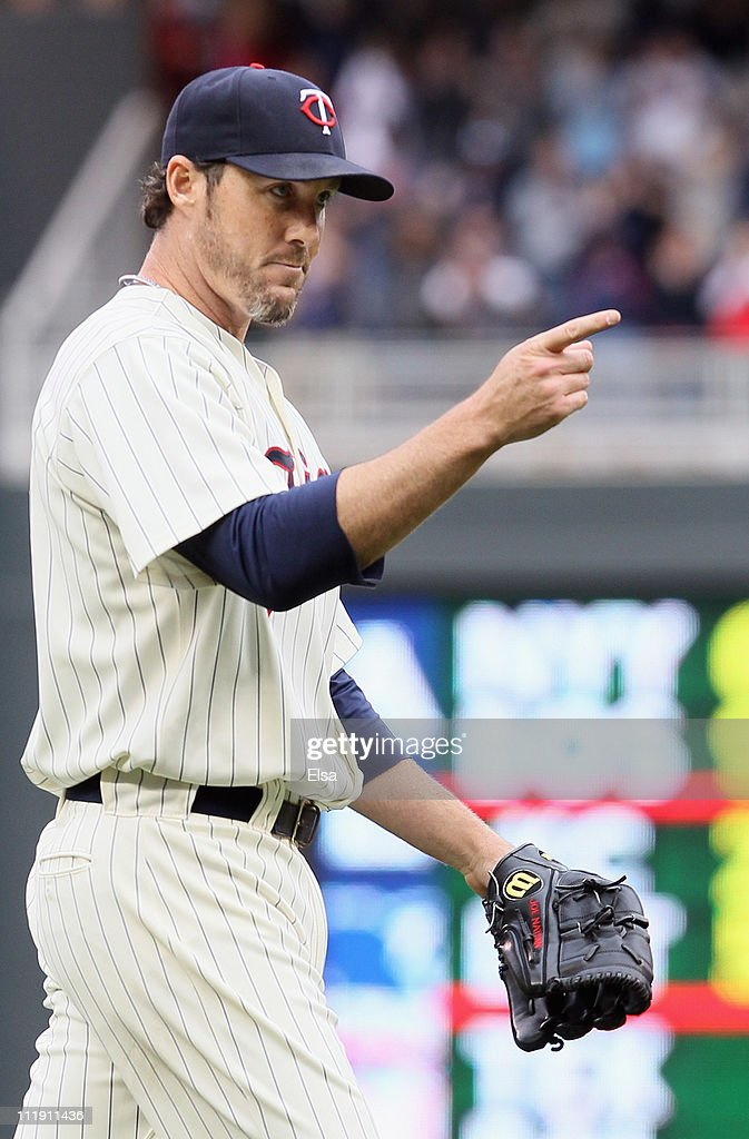 Joe Nathan #36 of the Minnesota Twins celebrates the win over the Oakland Athletics during Opening Day on April 8, 2011 at Target Field in Minneapolis, Minnesota. The Minnesota Twins defeated the Oakland Athletics 2-1.