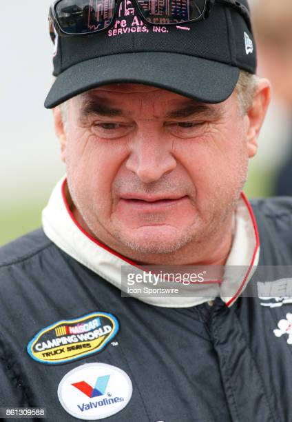 Joe Nemechek DAB Constructors Inc Chevrolet Silverado during qualifying for the Fred's 250 NASCAR Camping World truck race on October 14 at the...