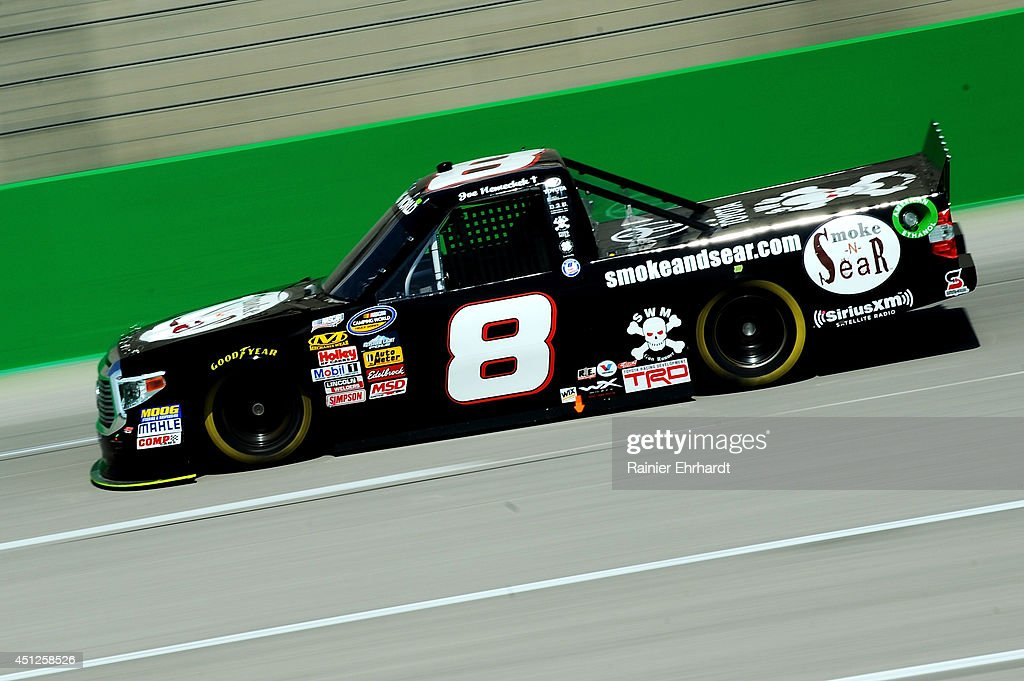 <a gi-track='captionPersonalityLinkClicked' href=/galleries/search?phrase=Joe+Nemechek&family=editorial&specificpeople=176518 ng-click='$event.stopPropagation()'>Joe Nemechek</a>, driver of the #8 smokeandsear.com Toyota, practices for the NASCAR Camping World Series UNOH 225 at Kentucky Speedway on June 26, 2014 in Sparta, Kentucky.