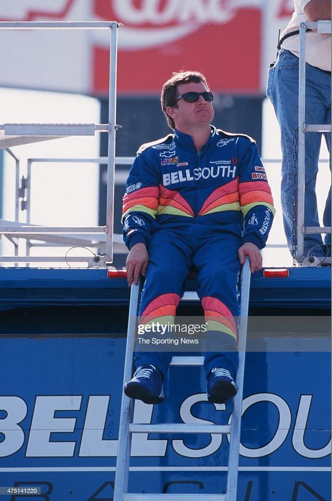 Joe Nemechek looks on during the UAWGM Quality 500 in Charlotte North Carolina on October 6 1999