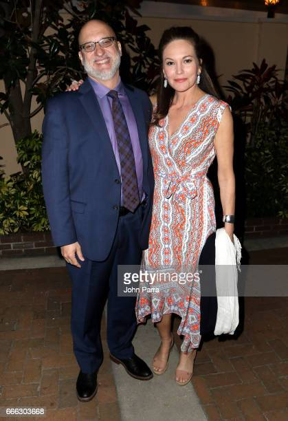 Joe Neumaier and actress Diane Lane attend to the closing night ceremony and screening of 'Paris Can Wait' during the 2017 Sarasota Film Festival on...
