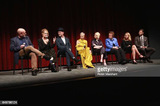 Joe Neumaier Valerie Faris Jonathan Dayton Andrea Risborough Emma Stone Billie Jean King Elisabeth Shue and Austin Stowell attend The Academy of...