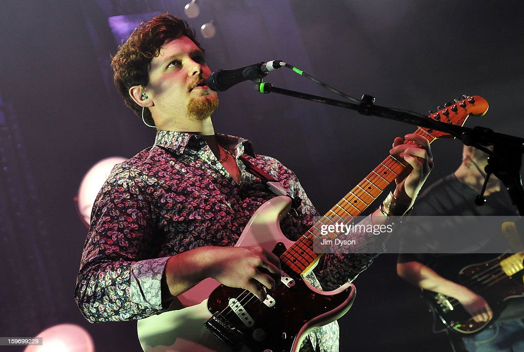Joe Newman of Alt-J performs live on stage at Shepherds Bush Empire on January 18, 2013 in London, England.