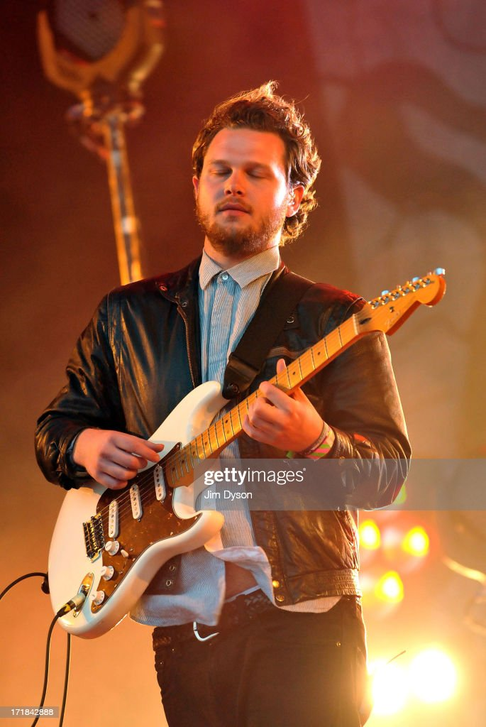 <a gi-track='captionPersonalityLinkClicked' href=/galleries/search?phrase=Joe+Newman+-+Musician&family=editorial&specificpeople=14328483 ng-click='$event.stopPropagation()'>Joe Newman</a> of Alt-J performs on the Other stage during day 2 of the 2013 Glastonbury Festival at Worthy Farm on June 28, 2013 in Glastonbury, England.