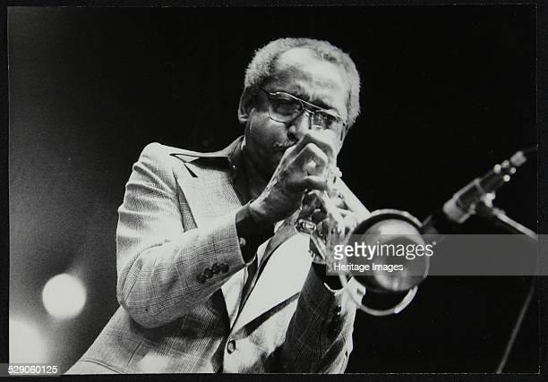 Joe Newman playing his trumpet Beaulieu Hampshire July 1977 Artist Denis Williams