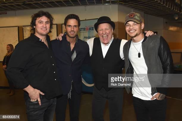 Joe Nichols Chuck Wicks Collin Raye and Kane Brown backstage during 1 Night 1 Place 1 Time A Heroes Friends Tribute to Randy Travis at Bridgestone...