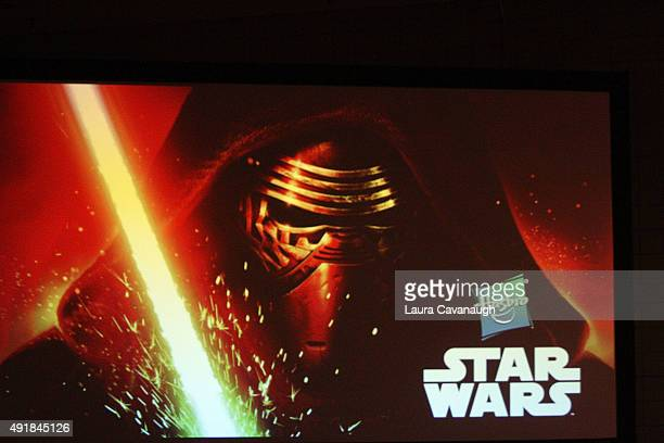 Joe Ninivaggi Steve Bono and Steve Evans attend the Hasbro Star Wars toy launch unveiling at New York ComicCon 2015 Day 1 at The Jacob K Javits...