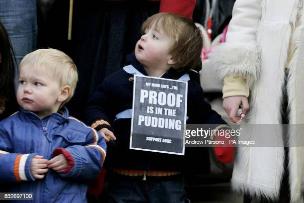 Joe O'Brien 18 months from Amersham Bucks takes part in a mothers and babies Protest Party to demonstrate against the Panorama expose of IVF doctor...