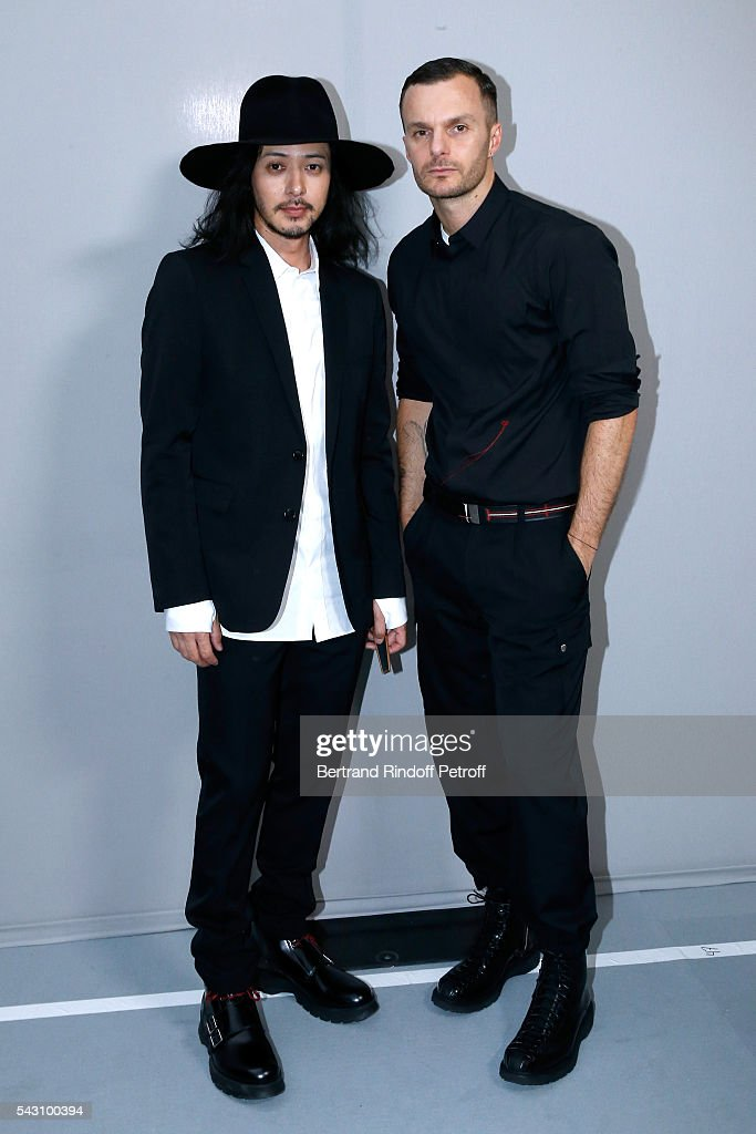 <a gi-track='captionPersonalityLinkClicked' href=/galleries/search?phrase=Joe+Odagiri&family=editorial&specificpeople=3039079 ng-click='$event.stopPropagation()'>Joe Odagiri</a> and Fashion designer Kris Van Assche pose Backstage after the Dior Homme Menswear Spring/Summer 2017 show as part of Paris Fashion Week on June 25, 2016 in Paris, France.