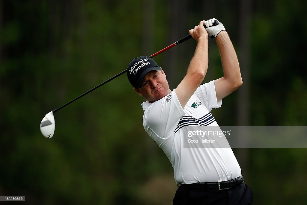 Joe Ogilvie of the United States hits a tee shot on the eighth hole during round one of the Shell Houston Open at the Golf Club of Houston on April 3, 2014 in Humble, Texas.