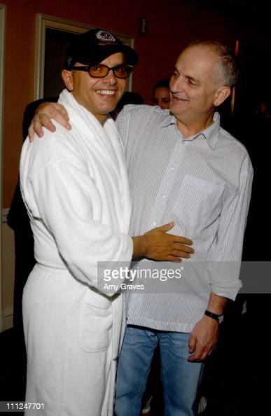 Joe Pantoliano and David Chase during HBO 'Luxury Lounge' at the 55th Annual Emmy Awards at The Peninsula Hotel Magnolia Room in Beverly Hills...