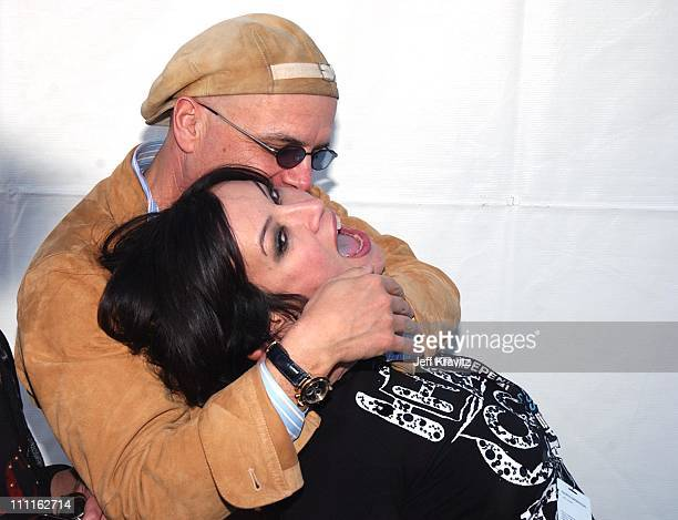Joe Pantoliano and Jennifer Tilly during IFP Independent Spirit Awards at Santa Monica Beach in Santa Monica CA United States