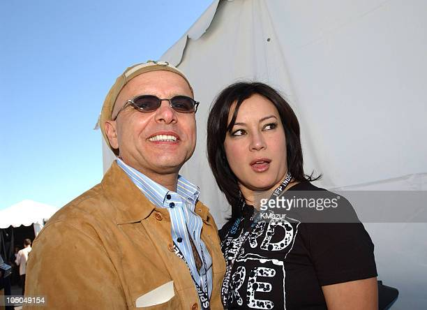 Joe Pantoliano and Jennifer Tilly during The 18th Annual IFP Independent Spirit Awards Backstage at Santa Monica Beach in Santa Monica California...