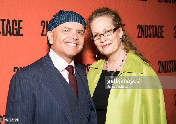 Joe Pantoliano and Nancy Sheppard attend Second Stage 38th Anniversary Gala at TAO Downtown on May 1 2017 in New York City