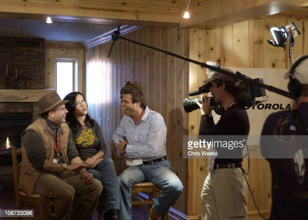 Joe Pantoliano Jennifer Tilly during 2004 Sundance Film Festival Got Steamers Motorola Lodge Day 2 at Motorola Cafe in Deer Valley Utah United States