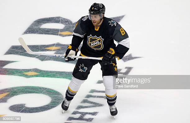 Joe Pavelski of the San Jose Sharks plays in the 2016 Honda NHL AllStar Final Game between the Eastern Conference AllStars and the Western Conference...