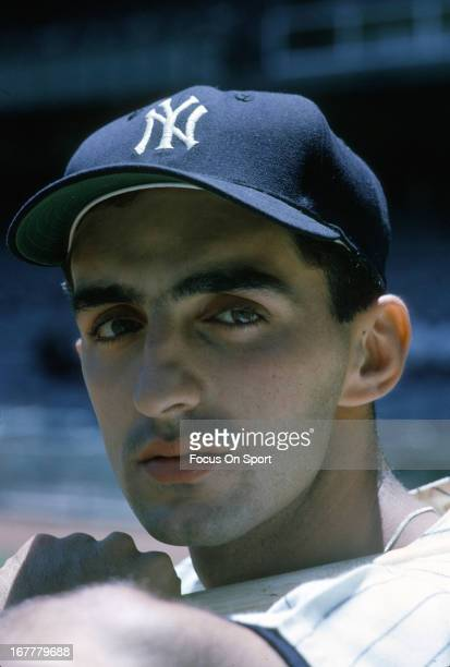 Joe Pepitone of the New York Yankees poses for this portrait before a Major League Baseball game circa 1963 at Yankee Stadium in the Bronx borough of...