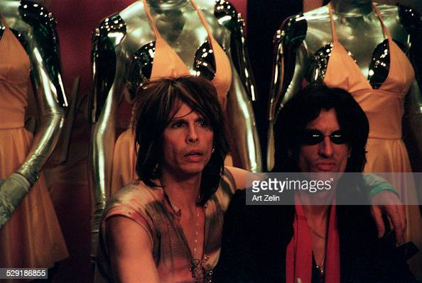 Joe Perry and Steven Tyler of Aerosmith circa 1990 New York