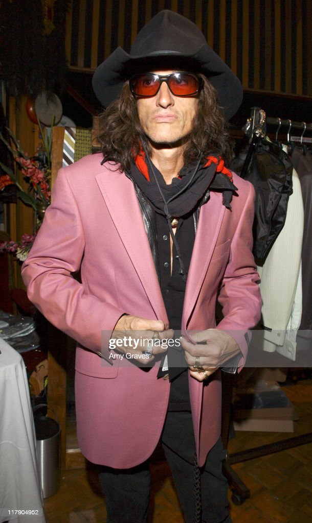 <a gi-track='captionPersonalityLinkClicked' href=/galleries/search?phrase=Joe+Perry+-+Musicien&family=editorial&specificpeople=13600677 ng-click='$event.stopPropagation()'>Joe Perry</a> of <a gi-track='captionPersonalityLinkClicked' href=/galleries/search?phrase=Aerosmith&family=editorial&specificpeople=640712 ng-click='$event.stopPropagation()'>Aerosmith</a> at the GRAMMY Style Studio during GRAMMY Style Studio - Day 2 at Ocean Way Recording Studios in Los Angeles, California, United States.