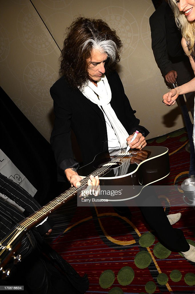 Joe Perry of Aerosmith attend the Songwriters Hall of Fame 44th Annual Induction and Awards Dinner at the New York Marriott Marquis on June 13, 2013 in New York City.
